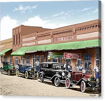 Old Main Street Grapevine Texas Canvas Print