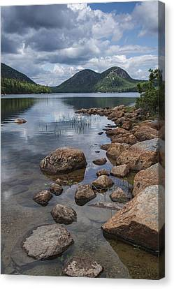 Maine Acadia Jordan Pond The Bubbles Canvas Print by Andy Gimino