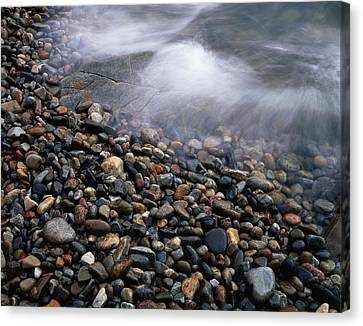 Break Fast Canvas Print - Maine, Acadia National Park, Waves by Christopher Talbot Frank