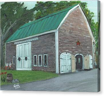Maine Barn Canvas Print by Cliff Wilson