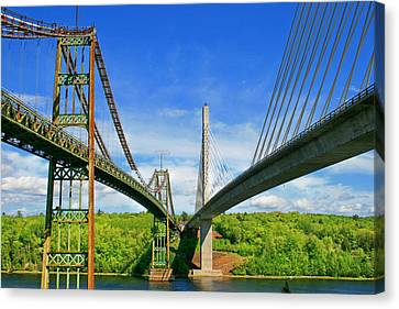 Canvas Print featuring the photograph Maine Bridges by Barbara West