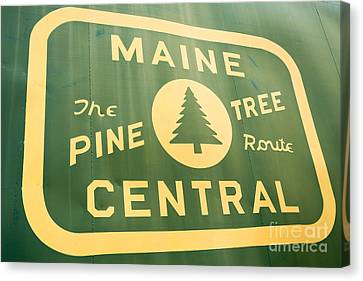 Maine Central The Pine Tree Route Canvas Print by Edward Fielding