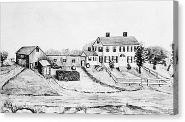 Maine Farmhouse Canvas Print - Maine Farm, 1897 by Granger
