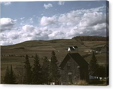 Maine Farmhouse Canvas Print - Maine Farmland, 1940 by Granger