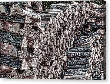 Maine Firewood Canvas Print