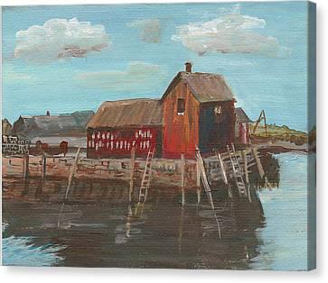 Maine Fishing Shack Canvas Print