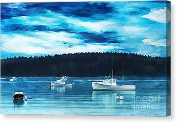 Maine Harbor Canvas Print by Darren Fisher