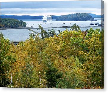 Canvas Print featuring the photograph Maine Harbor by Gene Cyr