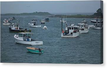 Maine Harbor Canvas Print by John Wartman