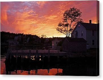 Maine Harbor Sunset Canvas Print