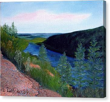 Maine Jordon Pond Canvas Print by Laura Tasheiko