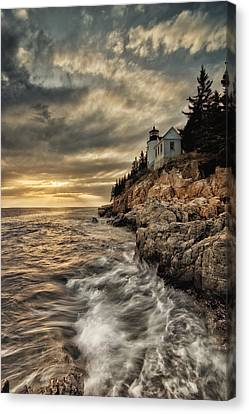 Rocky Maine Coast Canvas Print - Maine Lighthouse by Chad Tracy