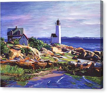 Keeper Canvas Print - Maine Lighthouse by David Lloyd Glover