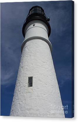 Canvas Print featuring the photograph Maine Lighthouse by Gena Weiser