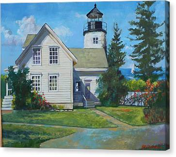Maine Lighthouse Canvas Print by Michael McDougall