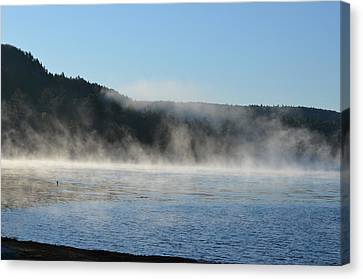 Canvas Print featuring the photograph Maine Morning by James Petersen