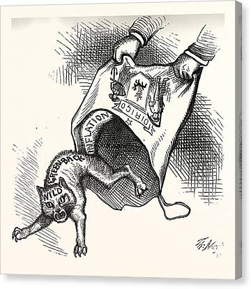 Maine Prize. Democrats Had Let It, Engraving 1880, Us, Usa Canvas Print by American School