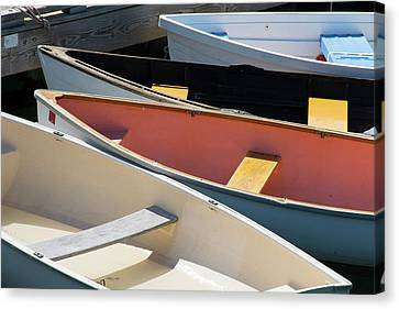 Maine, Rockland Colorful Boats Canvas Print by Cindy Miller Hopkins
