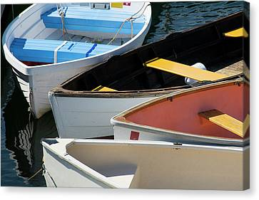 Maine, Rockland Colorful Row Boats Canvas Print by Cindy Miller Hopkins