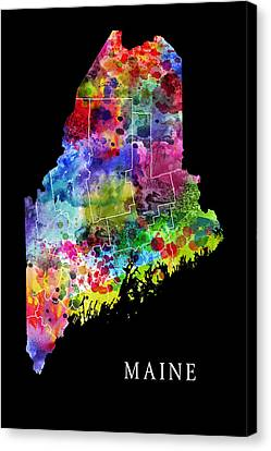 Maine State Canvas Print by Daniel Hagerman