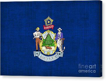 Maine State Flag Canvas Print by Pixel Chimp