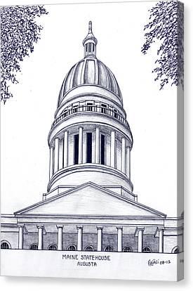 Buildings Canvas Print - Maine Statehouse by Frederic Kohli