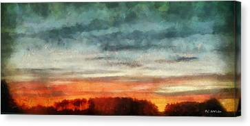 Maine Sunset Canvas Print by RC deWinter