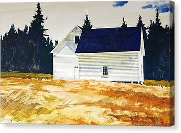 Maine White Canvas Print by Len Stomski