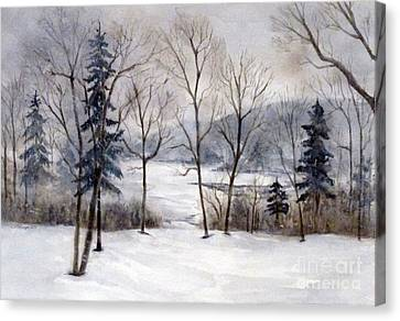 Maine Winter Canvas Print