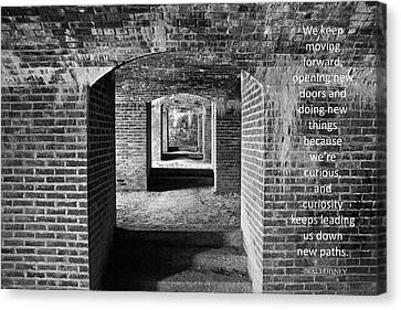 Canvas Print featuring the photograph Maine's Fort Knox by Barbara West