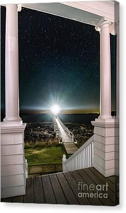 Mid-coast Maine Canvas Print - Maines Premier Porch Light by Scott Thorp