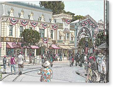 Mainstreet Anytown Usa Canvas Print by Jeff Kemper