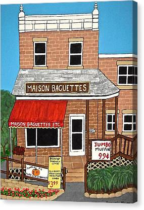 Maison Baguettes Canvas Print by Stephanie Moore