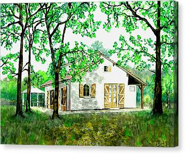 Canvas Print featuring the painting Maison En Medoc by Marc Philippe Joly