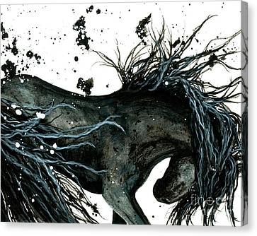 Majestic Abstract Horse Canvas Print by AmyLyn Bihrle