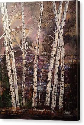 Majestic Birch Canvas Print