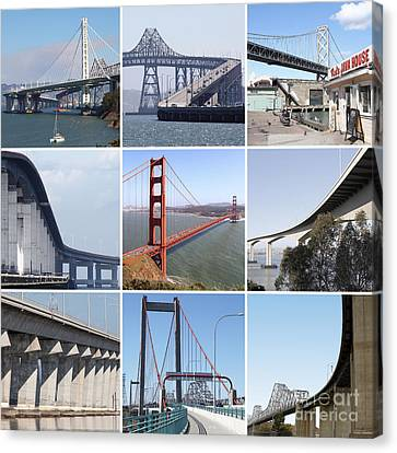 Majestic Bridges Of The San Francisco Bay Area Canvas Print by Wingsdomain Art and Photography