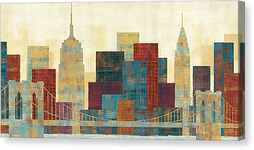 Times Square Canvas Print - Majestic City by Michael Mullan