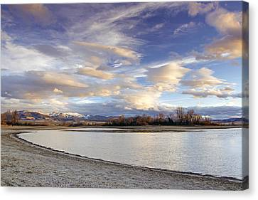 Majestic Clouds Over The Reservoir Canvas Print