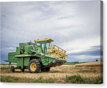 Canvas Print featuring the photograph Majestic Combine by Dawn Romine