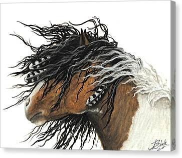 Spirit Horse Canvas Print - Majestic Curly Horse by AmyLyn Bihrle