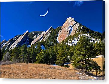 Majestic Flatirons Of Boulder Colorado Canvas Print