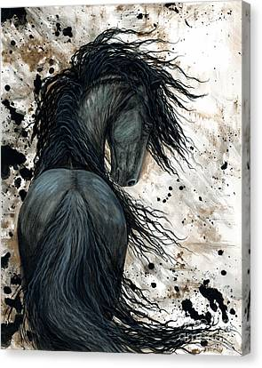 Stallion Canvas Print - Majestic Friesian Horse 123 by AmyLyn Bihrle