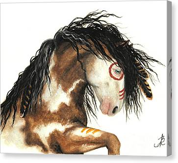 Majestic Horse Mustang 64 Canvas Print by AmyLyn Bihrle