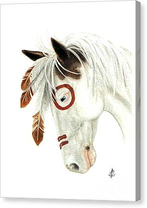 Spirit Horse Canvas Print - Majestic Horse Medicine Hat 41 by AmyLyn Bihrle