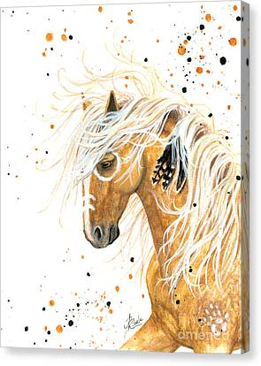 Majestic Palomino Horse 84 Canvas Print by AmyLyn Bihrle