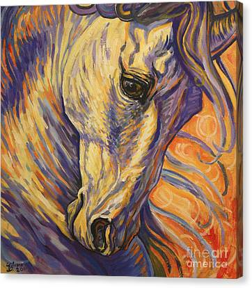 Horse In Art Canvas Print - Majestic Lipizzan by Silvana Gabudean Dobre