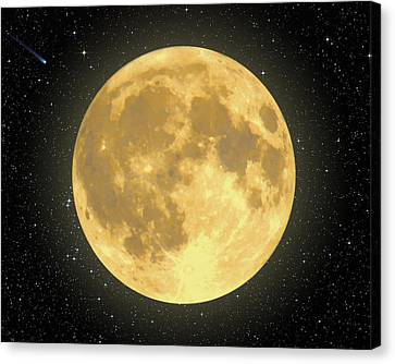 Majestic Moon Canvas Print by Dave Lee