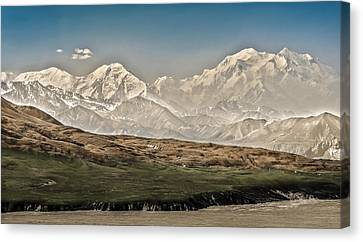 High Park Fire Canvas Print - Majestic Mount Mckinley by Penny Lisowski