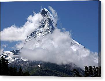 Canvas Print featuring the photograph Majestic Mountain  by Annie Snel